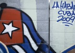 Cubana Production Service Cuba Photo street art flag
