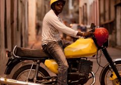 Cubana Production Service Cuba Havana Photo motorbike yellow