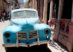 Cubana Production film Service Cuba Habana Photo blue old car