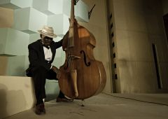 black jazz musician with cello