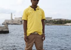 fashion model man with yellow shirt