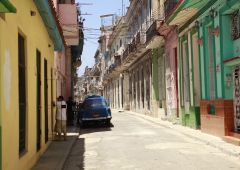 colorful street in havana