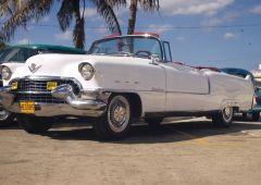 50s white car