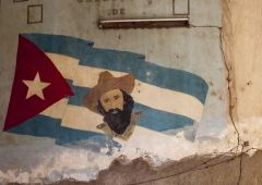 cuban flag wall painting