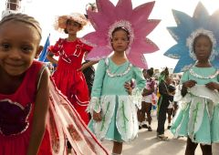 children in festival carnival in cuba