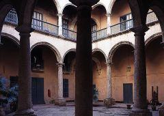 Large stone pillars
