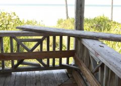 old wood porch