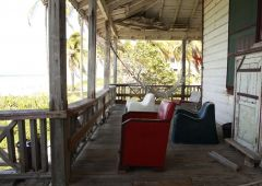 Porch with chairs