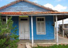 Blue house Havana Cuba
